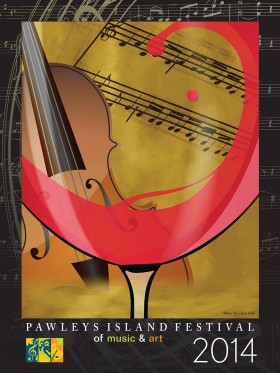 Pawleys Island Festival of Music and Art 2014 Poster