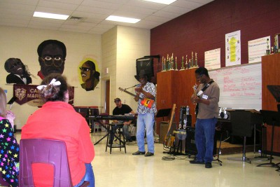 Mac Arnold at Carver's Bay High School